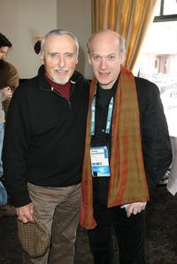 Dennis Hopper and Timothy Greenfield-Sanders at the CineVegas luncheon held at Fin Restaurant during the 2008 Sundance Film Festival.