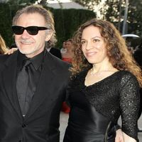 Harvey Keitel and Daphna Kastner at the Vanity Fair Oscar Party.