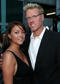 Channel Fraser and Jake Busey at the premiere of