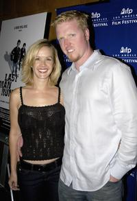 Jake Busey and guest at the premiere of