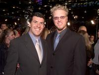 Producer Peter Riche and Jake Busey at the premiere of