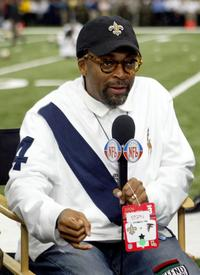 Spike Lee prior to the Night Football game between the Atlanta Falcons and the New Orleans Saints.