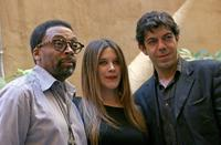 Spike Lee, Valentina Cervi and Pierfrancesco Favino for premiere of his new movie
