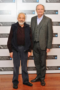 Mike Leigh and Jim Broadbent at the photocall of