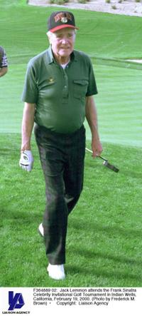 Jack Lemmon at the Frank Sinatra Celebrity Invitational Golf Tournament in Indian Wells.