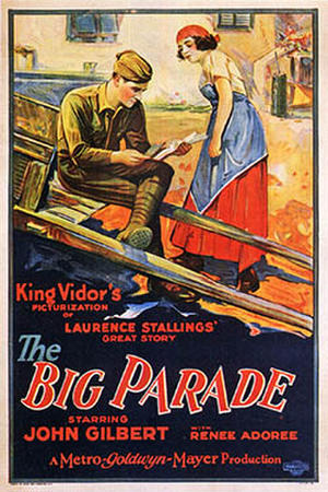 """Poster art for """"The Big Parade."""""""