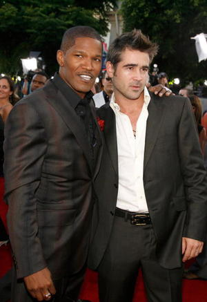 "Jamie Foxx and Colin Farrell at the Westwood premiere of ""Miami Vice"""