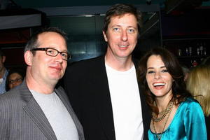 """Executive producer Ted Hope, director Hal Hartley and actress Parker Posey at the N.Y. premiere of """"Fay Grim."""""""
