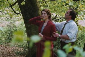 "Marina Hands as Constance and Jean-Louis Coulloc'h as Oliver Parkin in ""Lady Chatterley."""