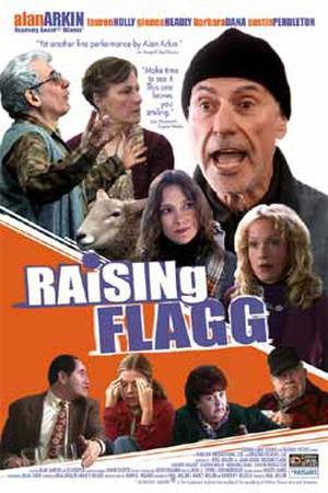 """Poster art for """"Raising Flagg."""""""