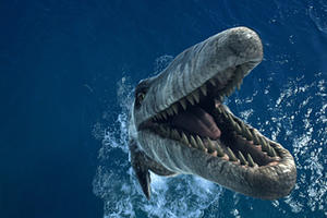 """A scene from """"Sea Monsters: A Prehistoric Adventure."""""""
