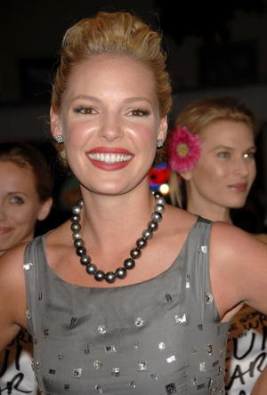 "Katherine Heigl at the ""27 Dresses"" premiere."