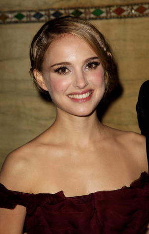 "Actress Natalie Portman at the after party of the London premiere of ""The Other Boleyn Girl."""