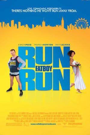 """Poster art for """"Run, Fat Boy, Run."""""""