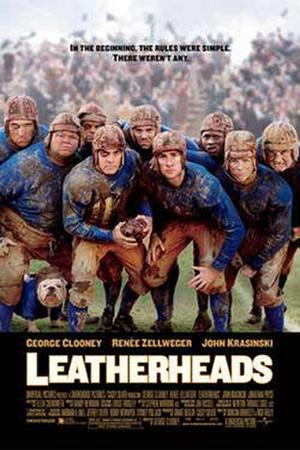 "Poster art for ""Leatherheads."""