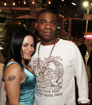 "Actor Tracy Morgan and guest at the after party of the L.A. premiere of ""Superhero Movie."""