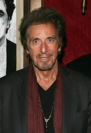 """Actor Al Pacino at the N.Y. premiere of """"Righteous Kill."""""""