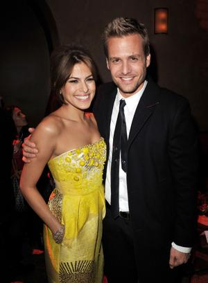 "Eva Mendes and Gabriel Macht at the after party of the California premiere of ""The Spirit."""