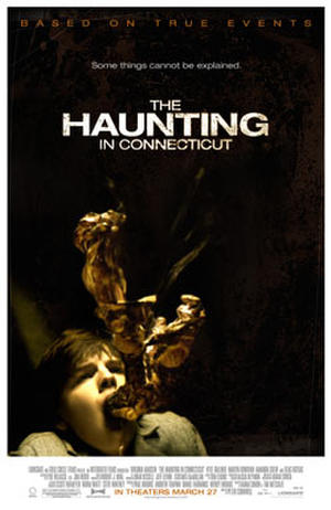 "Poster art for ""The Haunting in Connecticut."""