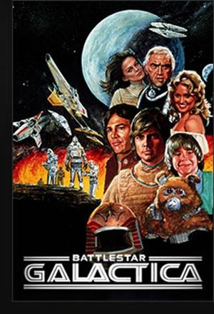 "Poster art for ""Battlestar Galactica."""