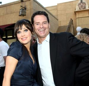 """Zooey Deschanel and Producer Mark Waters at the California premiere of """"(500) Days of Summer."""""""