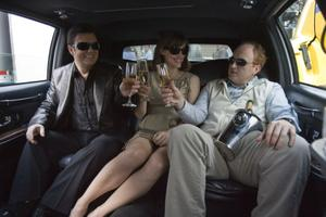 "Ricky Gervais as Mark, Jennifer Garner as Anna and Louis C.K. as Greg in ""The Invention of Lying."""