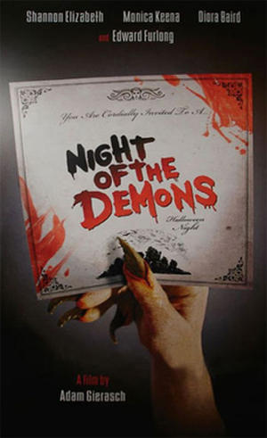 """Poster art for """"Night of the Demons."""""""