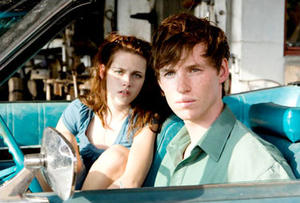"Kristen Stewart and Eddie Redmayne in ""The Yellow Handkerchief."""