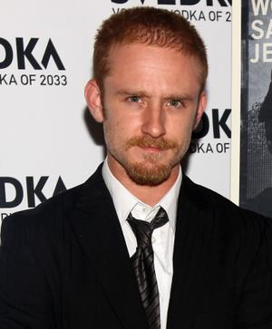 "Ben Foster at the New York premiere of ""The Messenger."""