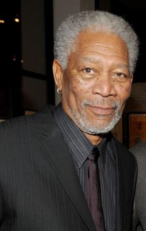 "Morgan Freeman at the California premiere of ""Invictus."""