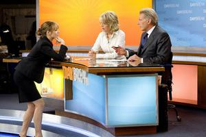 """Rachel McAdams as Becky Fuller, Diane Keaton as Colleen Peck and Harrison Ford as Mike Pomeroy in """"Morning Glory."""""""