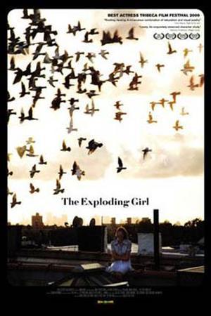 """Poster art """"The Exploding Girl."""""""