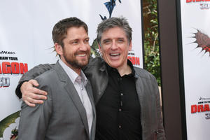 "Gerard Butler and Craig Ferguson at the Hollywood premiere of ""How to Train Your Dragon."""