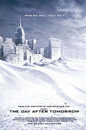 "Poster art for ""The Day After Tomorrow."""