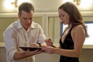 "Matt Damon and Emily Blunt in ""The Adjustment Bureau."""