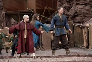 """Noah Ringer as Aang, Nicola Peltz as Katara and Jackson Rathbone as Sokka in """"The Last Airbender."""""""