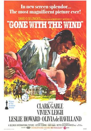 "Poster art for ""Gone with the Wind,"""