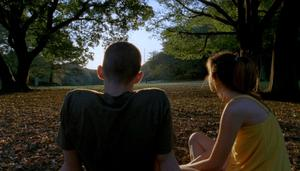 "Nathaniel Brown as Oscar and Paz de la Huerta as Linda in ""Enter the Void."""