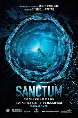 """Poster art for """"Sanctum: An IMAX 3D Experience""""."""