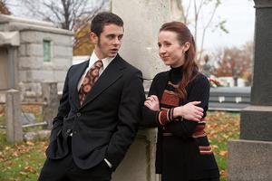 """Nick Thurston and Leslie Murphy in """"White Irish Drinkers."""""""