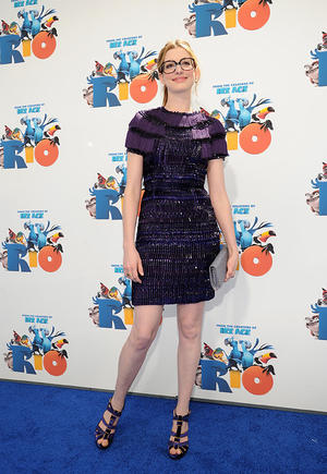"Anne Hathaway at the California premiere of ""Rio The Movie."""