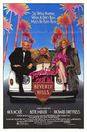 "Poster art for ""Down and Out in Beverly Hills."""