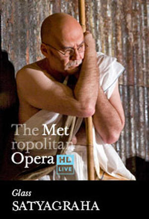 "Poster art for ""The Metropolitan Opera: Satyagraha."""