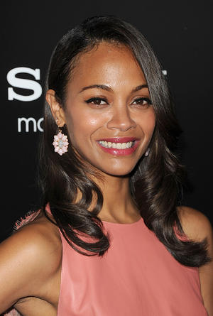 "Zoe Saldana at the California premiere of ""Colombiana."""
