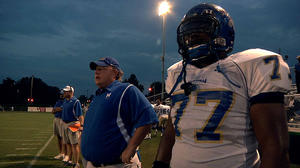 "Coach Bill Courtney and O.C. Brown in ""Undefeated."""