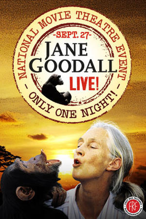 "Poster art for ""An Evening With Jane Goodall Live."""