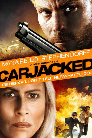 "Poster art for ""Carjacked."""