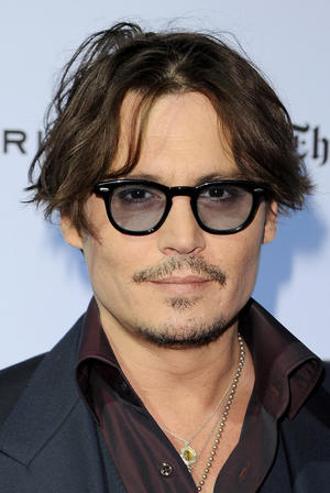 "Johnny Depp at the California premiere of ""The Rum Diary."""