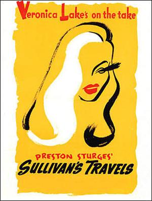 """Poster art for """"Sullivan's Travels."""""""