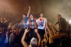 """Jonathan Daniel Brown as JB, Oliver Cooper as Costa and Thomas Mann as Thomas in """"Project X."""""""